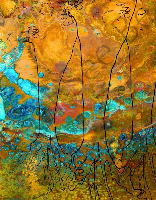3 trees - Feel See Be. Spiritual cooper art in Oxford