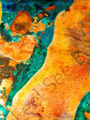 Skin- Feel See Be. Spiritual cooper art in Oxford