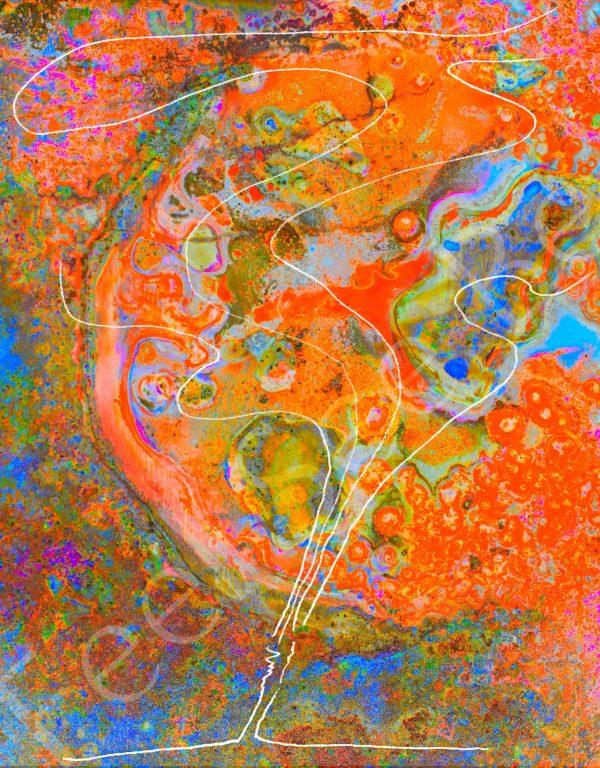 Wonder - Feel See Be. Spiritual cooper art in Oxford