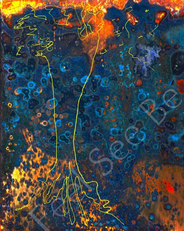 Copper tree- Feel See Be. Spiritual cooper art in Oxford