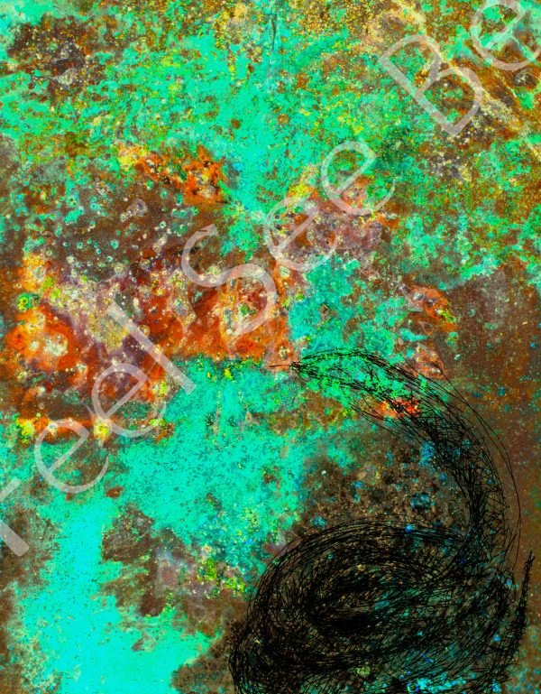 Shape shifter series - snake - Feel See Be. Spiritual cooper art in Oxford